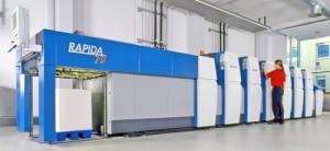 KBA ще покаже шестцветната версия с модул за лакиране на печатната машина Rapida 75