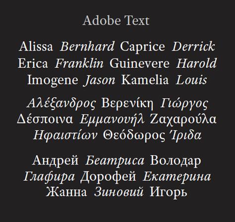 Шрифтовете в Adobe CS5