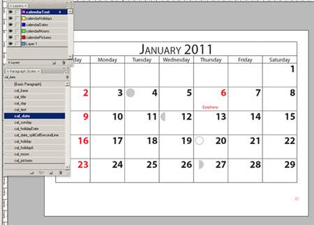 Calendar Wizard за Adobe Indesign