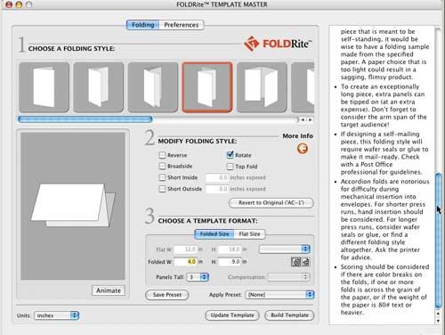 Проектирайте дипляните си с FoldRite Template Master