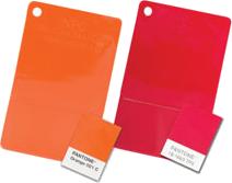 Пластмаса с цветове по Pantone