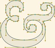 Averia: Усредненият шрифт