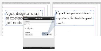 Плъгин за InDesign позволява на потребителите да пробват шрифтовете преди да ги купят