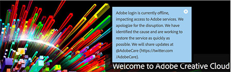 Adobe Creative Cloud offline