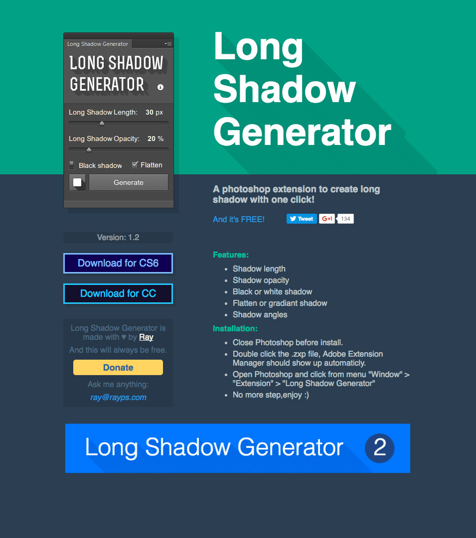 Long Shadow Generator