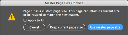 Use master page size