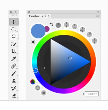 Coolorus 2 кръг с цветовете за Photoshop