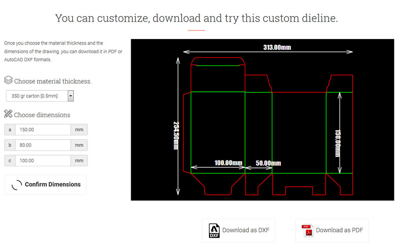 онлайн решение за параметрични щанци за кутии