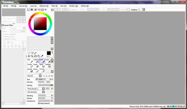 SAI Paint Tool