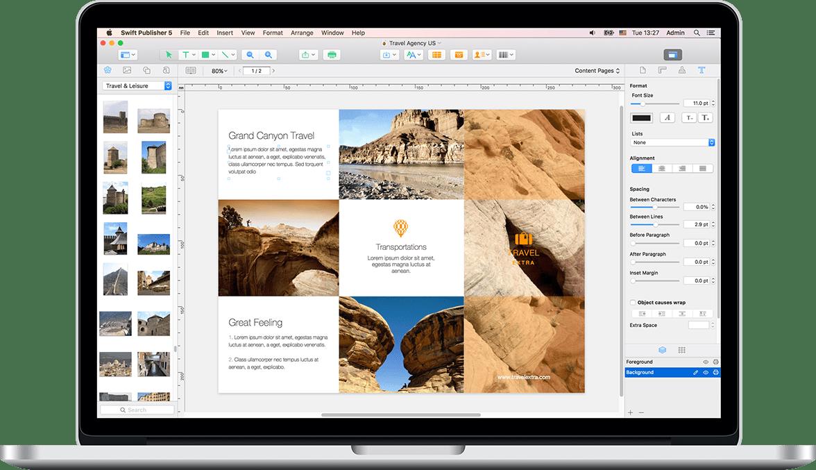 решение за страниране и дизайн за Mac