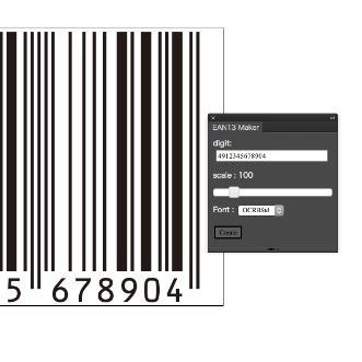 EAN13 Barcode Maker за Illustrator