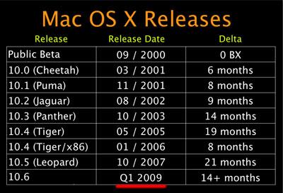 Mac OS X, 10.6 Snow Leopard по-рано от предвиденото?