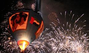 Печат върху балон помага за откриването на най-високата сграда в Дубай