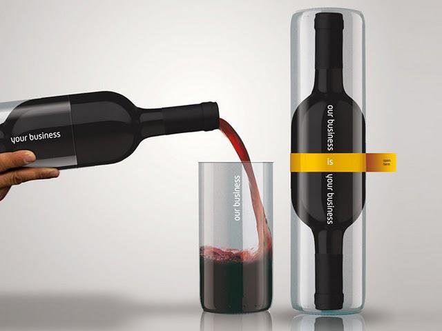 бутилка вино, подарък за нов клиент