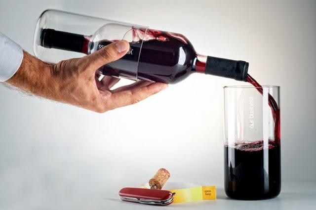 бутилката вино като подарък