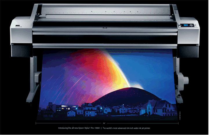 Най-авангардният 64 инчов инк-джет принтер в света