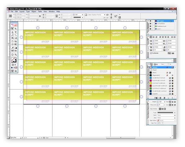 Добавка за InDesign, с която лесно да правите монтажи