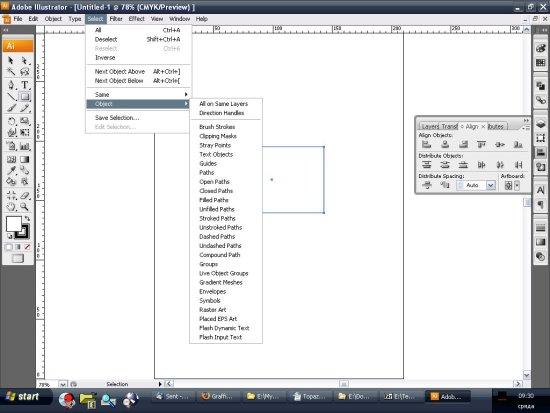 Select menu-то в Илюстратор на стероиди