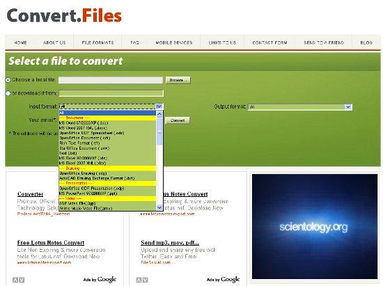 Безплатен онлайн файл конвертор
