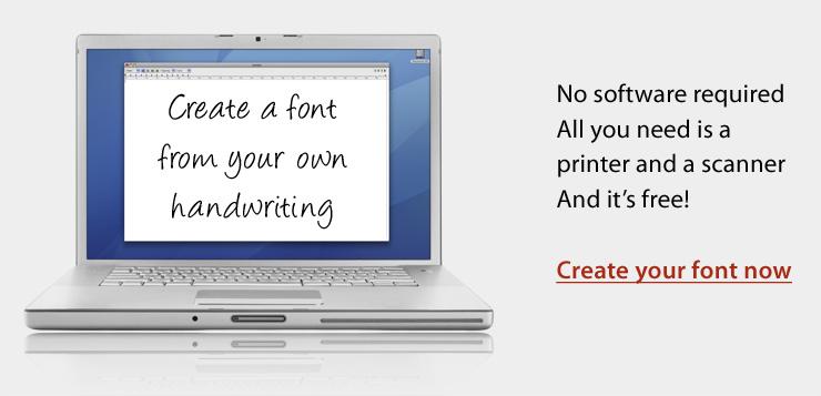 Превърнете почерка си в шрифт