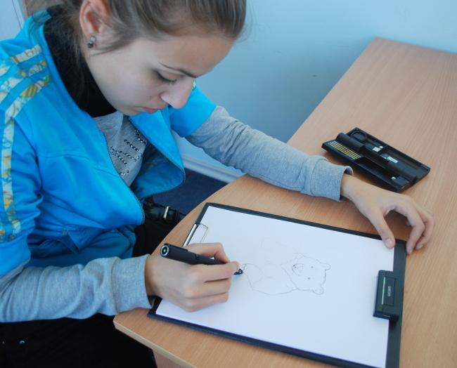 жаклин атанасова рисува с inkling