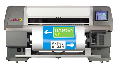 Принтер за пътни знаци