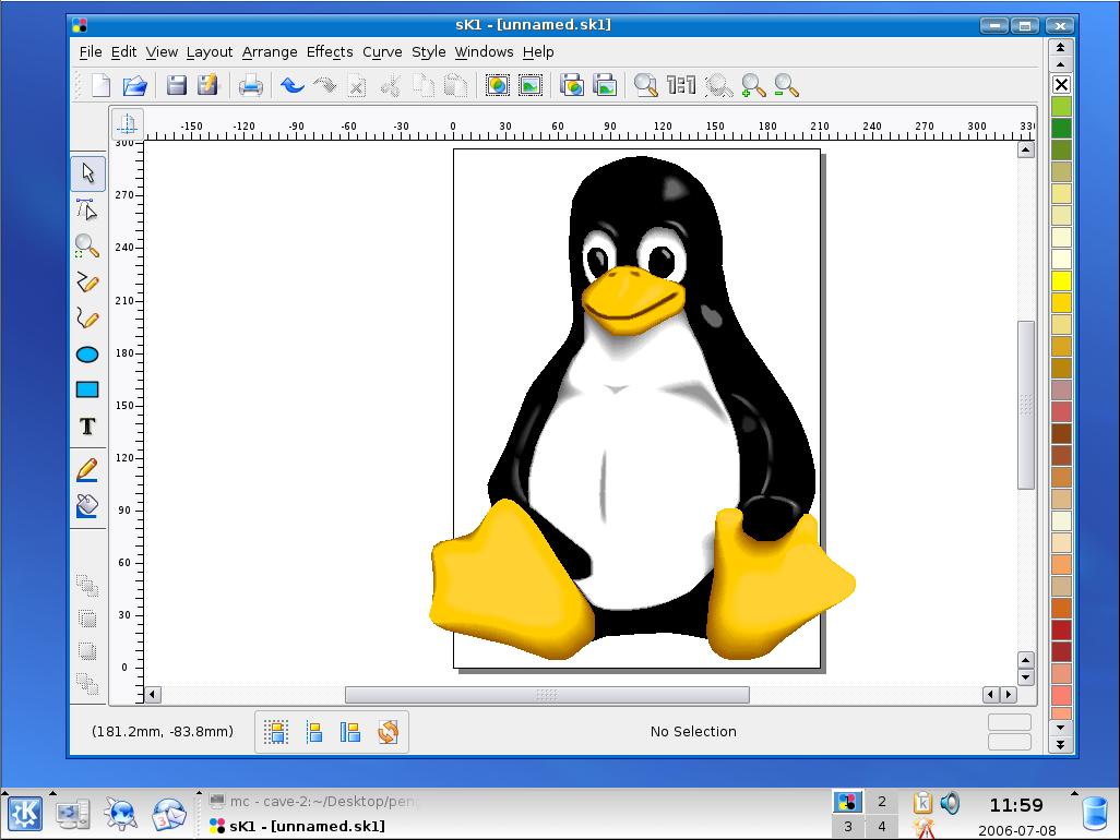SK1 – векторен графичен редактор за Linux