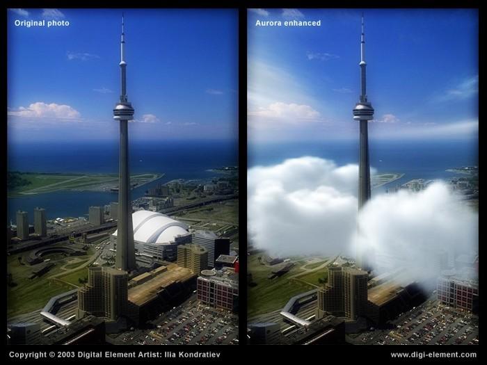 Aurora - мощно допълнение към Photoshop за създаване на реалистични природни  елементи
