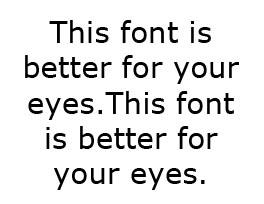 Verdana е най-безопасният шрифт за гледане