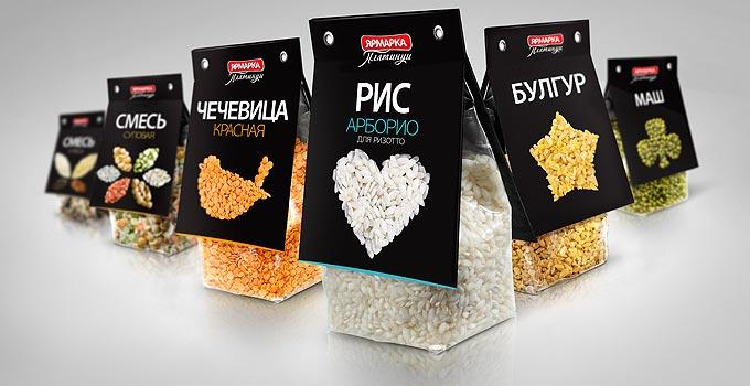 опаковки на зърнени и бобови храни