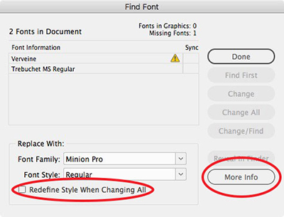 Управление на шрифтовете в InDesign