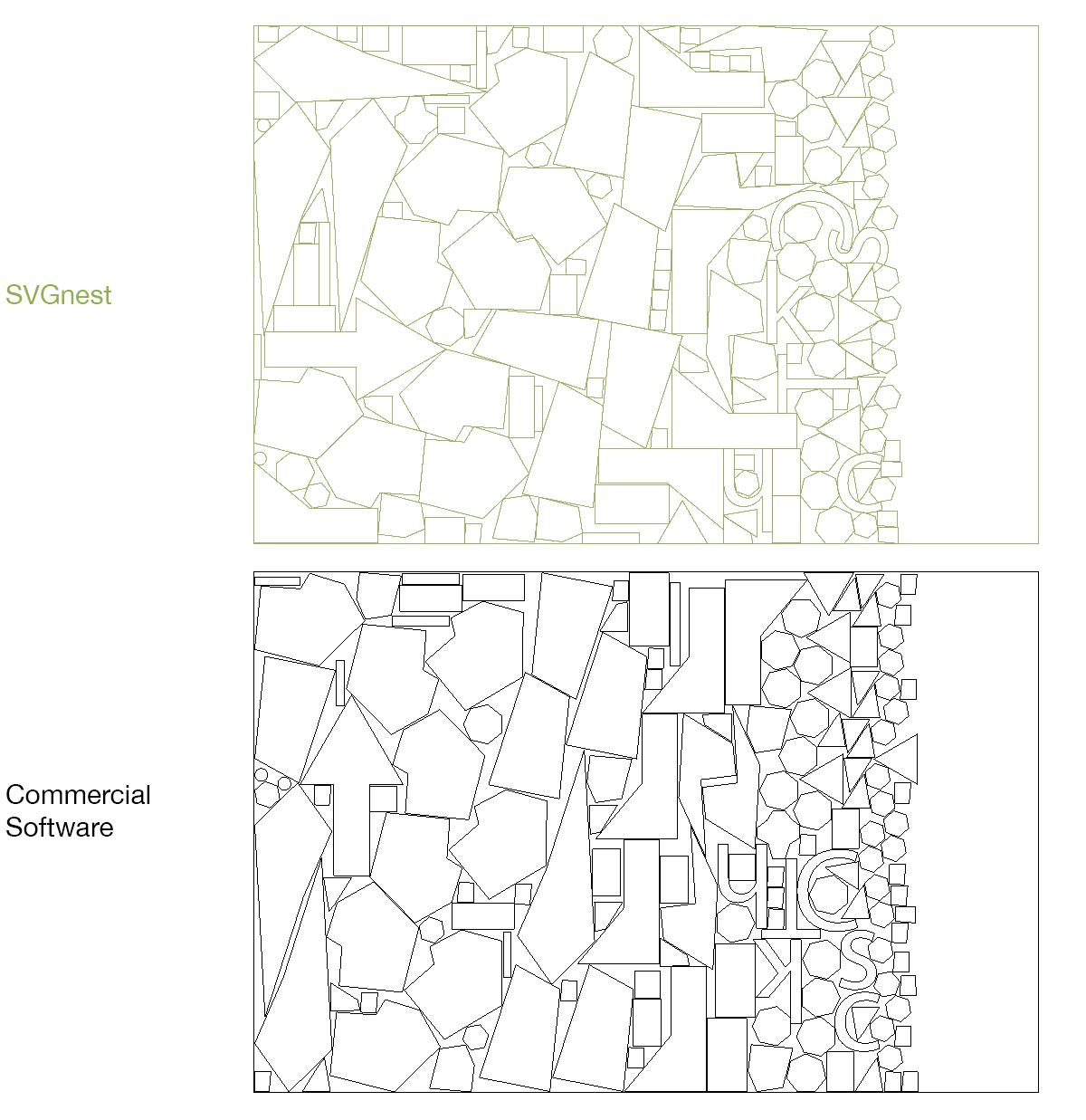 SVG Nest – решение за оптимизация на рязане на неправилни форми