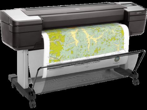 HP представи най-сигурните широкоформатни принтери за географски карти в света
