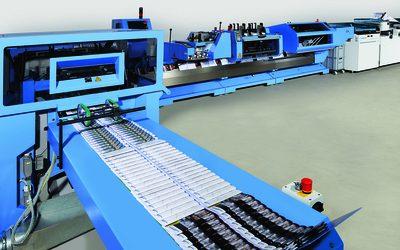 Система за телово шиене от Muller Martini довършва продукти както от цифров печат, така и от офсет