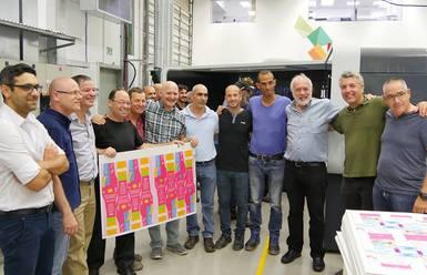 Първата печатна машина на Landa вече е при клиент