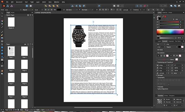 Тестова версия на Affinity Publisher