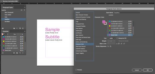 Управлявайте стилове в голям брой документи в InDesign с безплатен скрипт