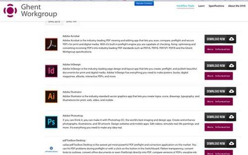 Нов потребителски интерфейс на сайта на работната група Ghent