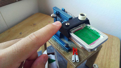 Миниатюрно устройство за ситопечат на тениски