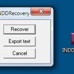 INDDRecovery възстановява повредени InDesign файлове