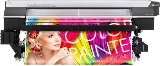 Новият ColorPainter H3-104s с екосолвентни мастила с малко отделяне на миризма