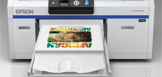 SureColor SC-F2000 е най-добрият принтер за директен печат върху облекла за 2014 г., според EDP.