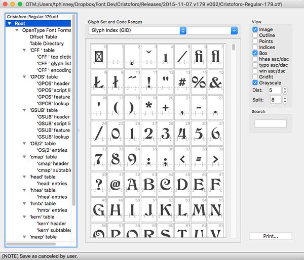 Редакция на OpenType шрифтове за Mac и Windows с DTL OTMaster 6