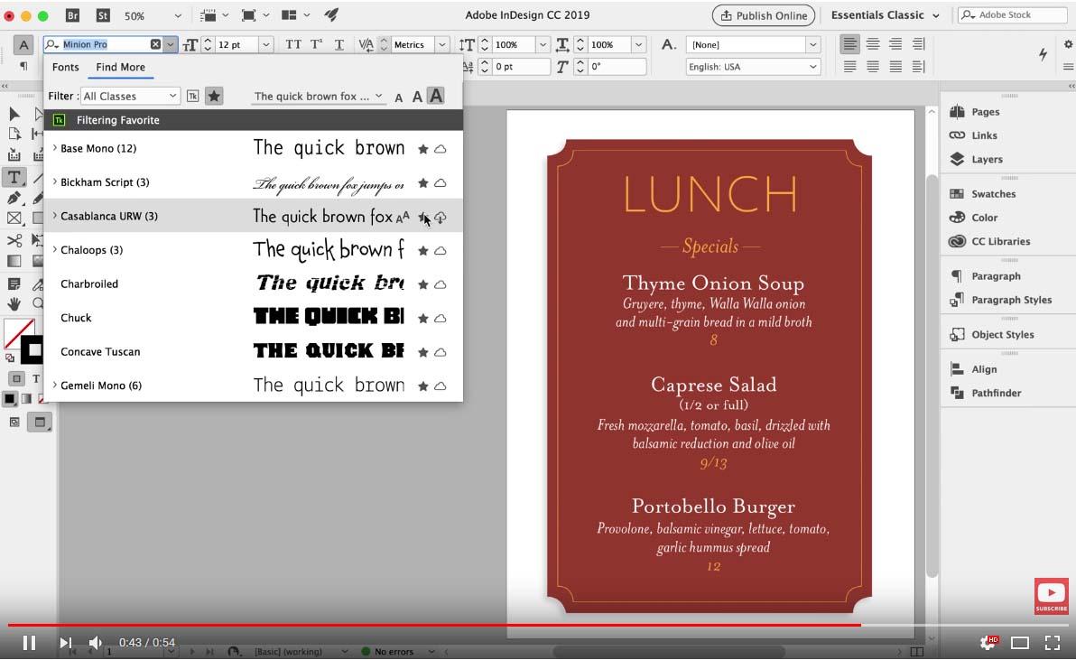Новости в типографията за InDesign CC и Illustrator CC