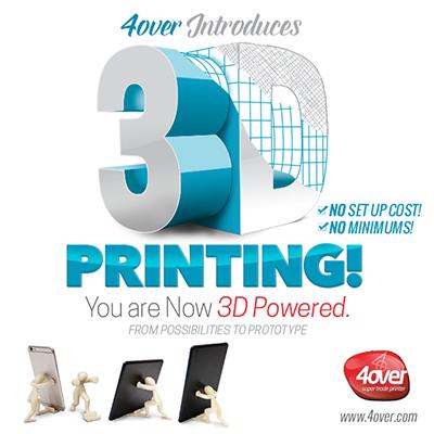 Канадската печатница 4over предлага и 3D печат