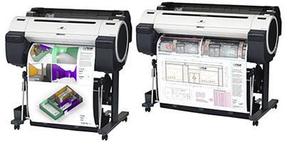 Нови принтери за CAD и рекламни приложения от Canon