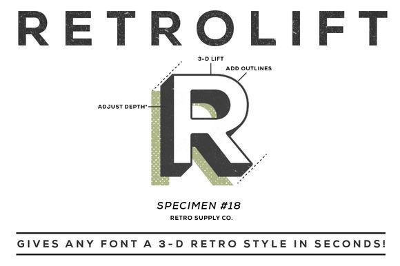 Лесни 3D текстови ефекти във Photoshop и Illustrator с Retrolift