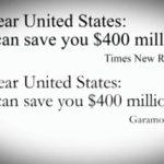 Шрифт може да спести 400 милиона долара годишно на САЩ