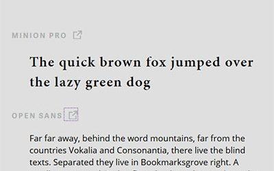 Typegenius улеснява подбора на шрифтове, които си подхождат