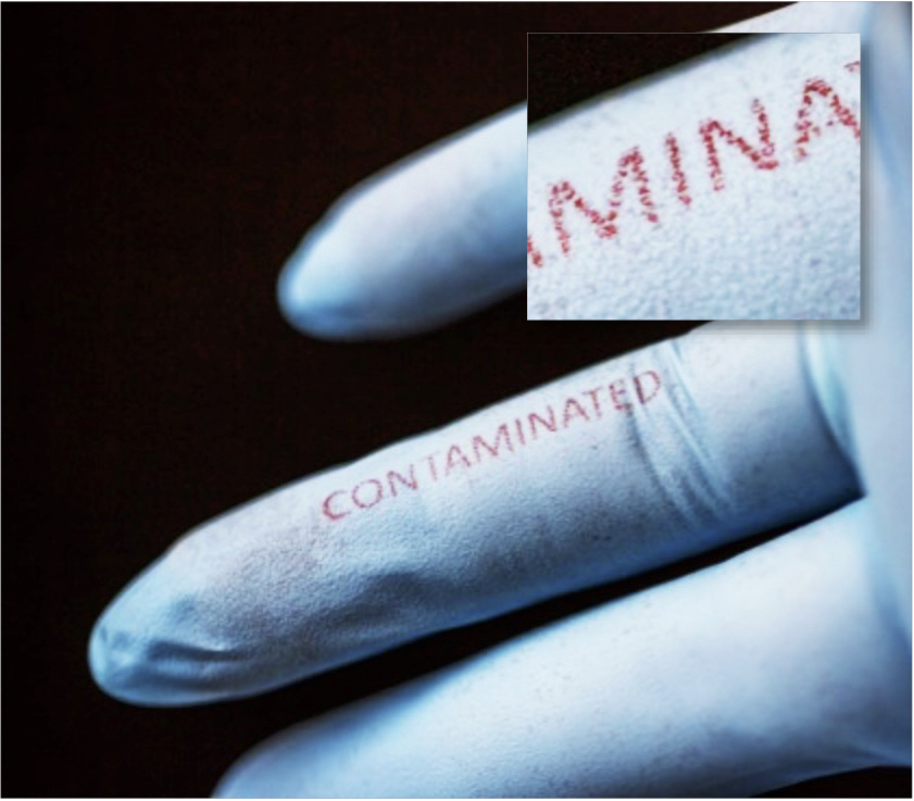 Мастило от коприна открива бактерии